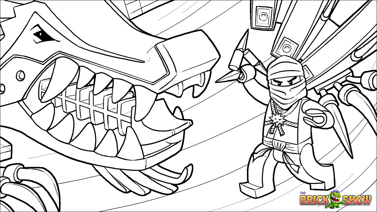 Free coloring pages of ninjago nindroids