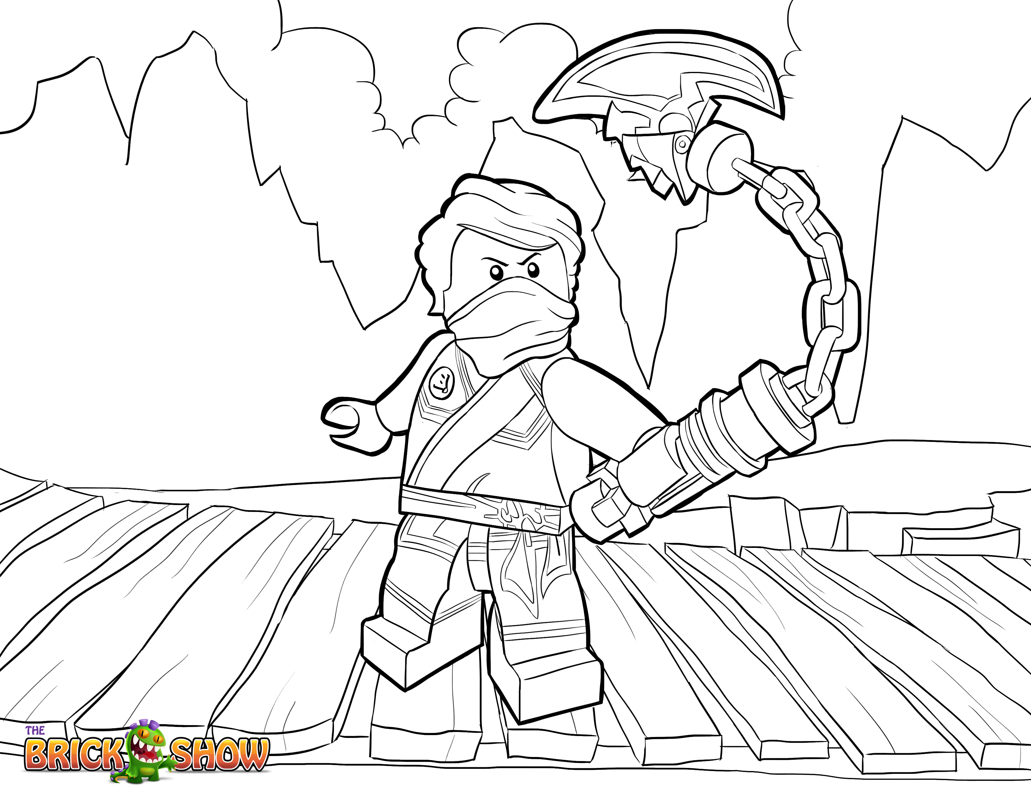 ninjago weapons coloring pages - photo#9