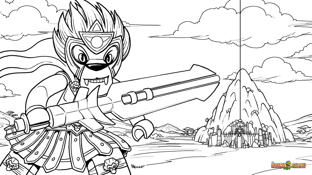 Lego chima coloring pages worriz
