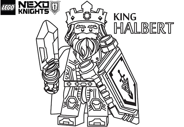 free lego knights coloring pages